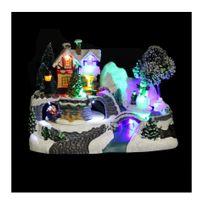 Jja - Village de Noël modèle maison animé et lumineux