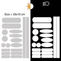 6 Bandes adh/ésives r/éfl/échissantes pour signalisation 28x2 cm Orange R/éfl/échissant