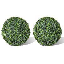 Vida - 2 pièce de boule artificiel plante intérieur extérieur 36 cm