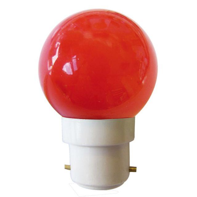 tibelec ampoule sph rique led b22 rouge pas cher achat. Black Bedroom Furniture Sets. Home Design Ideas