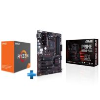 Carte mère AMD PRIME B350-PLUS Ryzen - Socket AM4 + Processeur AMD Ryzen 7 1700 95W AM4 8/16 Core/Tread 3.8 Ghz