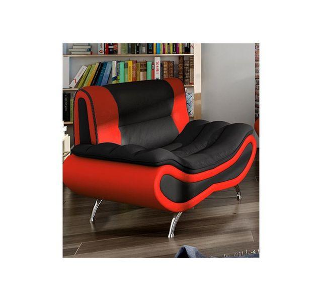 CHLOE DESIGN Fauteuil design ORI - noir et rouge