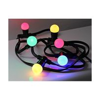 Revenergie - Guirlande 10m + 20 Led B22 couleurs chainable