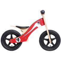 "Rebel Kidz - Vélo Enfant - Wood Air - Draisienne - 12"" Retro Racer rouge"