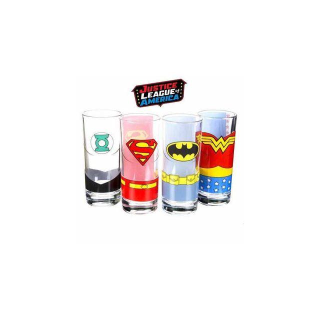 Kas Design Verres Justice League - lot de 4