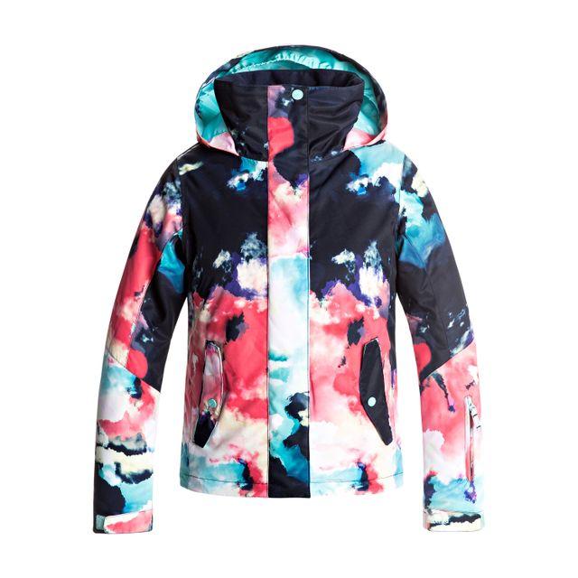 Roxy Veste De Ski Jetty Girl Jacket Multicolore 10 Ans Pas