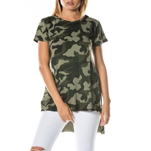 e39c3b2431e Princesse Boutique - Tee-shirt asymétrique Vert militaire - pas cher ...