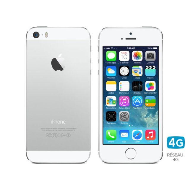 cf7ff6a0e7eb Destockage APPLE iPhone 5S 16 Go Blanc Argent pas cher - Achat ...