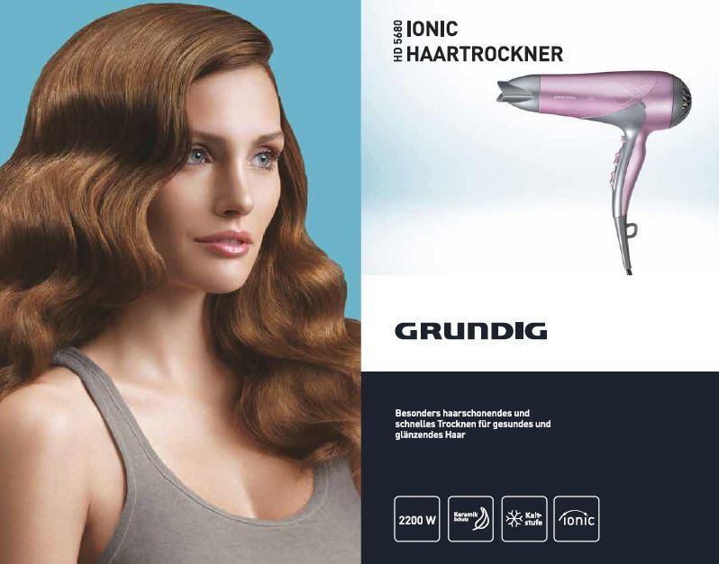 Sèche-Cheveux Ionique HD5680- 2200 W - Rose et argenté