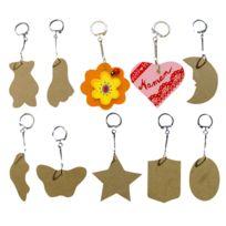 La Fourmi - porte-clef bois assorti - lot de 10