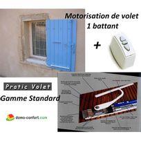 Pratic volet - Kit motorisation filaire Volet Battant Sur Mesure 1 vantail Standard Praticvolet