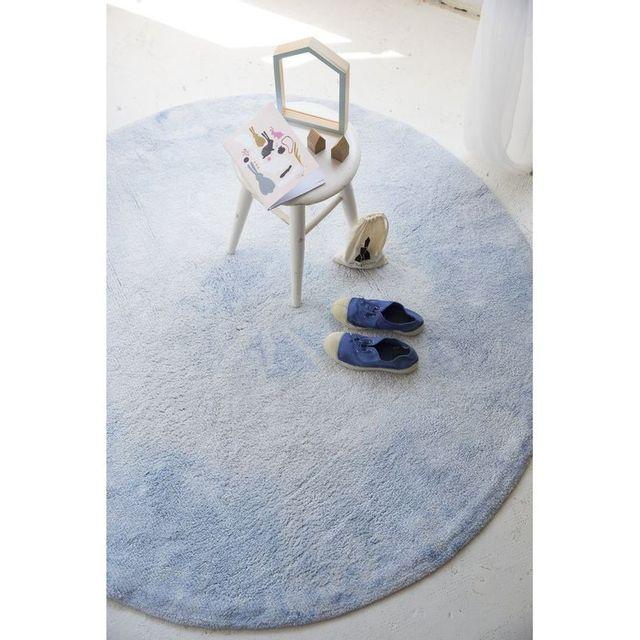 tapis etoiles tricolore bleu blanc jaune lavable b b gar on couleur bleu taille 120 160 cm. Black Bedroom Furniture Sets. Home Design Ideas