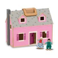 Melissa & Doug - 13701 - PoupÉE Et Mini PoupÉE - Maison De PoupÉE En Bois Pliante Et Portative