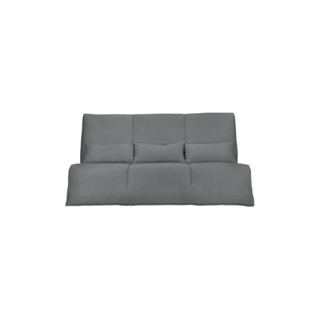 camif - banquette clic-clac gaya, matelas latex 15 cm 130 x 190 cm