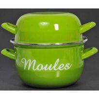 Aucune - Marmite a moules avec inscription 1 personne 18cm vert Tous feux dont induction
