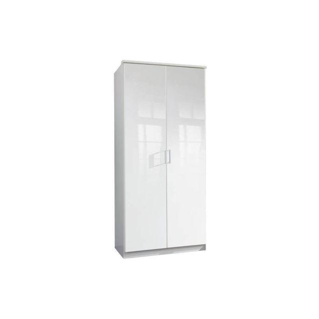 Inside 75 Armoire Cooper 2 portes largeur 91 coloris laquée blanc