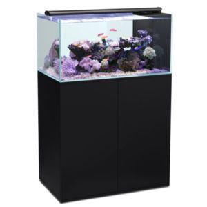 aquatlantis aqua meuble ultra clear sw 100 noir pas cher achat vente aquarium. Black Bedroom Furniture Sets. Home Design Ideas