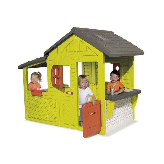 smoby cabane enfant neo floralie pas cher achat. Black Bedroom Furniture Sets. Home Design Ideas