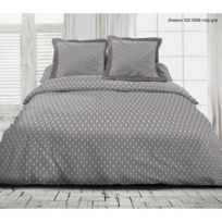 Univers Decor - Parure de draps 4 pièces pour lit 2 places Badiane 100% coton / 57 fils/cm²