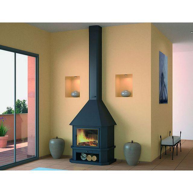 focgrup chemin e ch43 noire frontale porte encadrement laiton pas cher achat vente. Black Bedroom Furniture Sets. Home Design Ideas