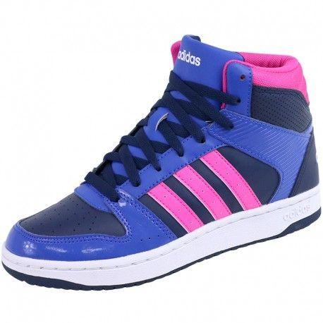 Adidas originals - Chaussures Montante Bleu Vs Hoopster Femme Adidas Multicouleur - 36 2/3 - pas cher Achat / Vente Baskets homme - RueDuCommerce