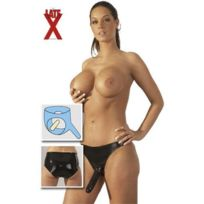 LateX - Gode double slip noir Tu