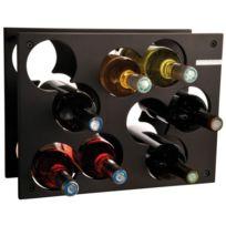 L Atelier Du Vin - Range bouteilles en bois 9 bouteilles Noir City Rack