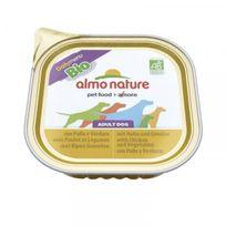 Almo Nature - Pâtée pour chien daily menu bio - 9 barquettes x 300 g Poulet et pomme de terre