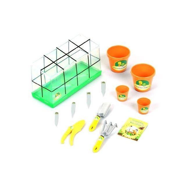 Klein Serre de jardinage Enfant avec outils et accessoires