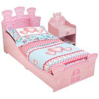 KIDKRAFT - Chambre Château de princesse lit + chevet + parure offerte