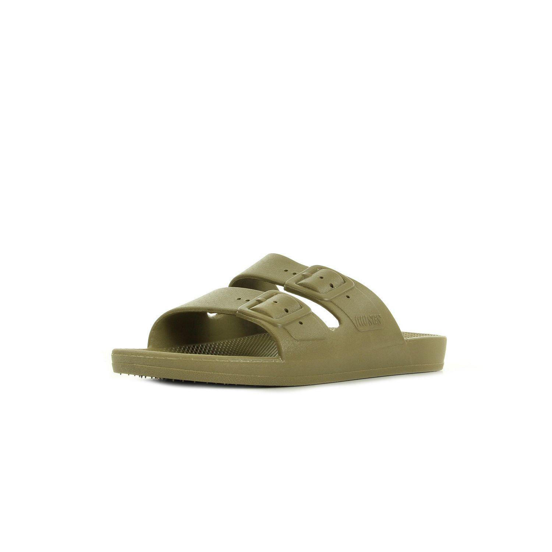 Soldes Moses - Freedom slippers Khaki Kaki - pas cher Achat   Vente ... 05e736ed2eed