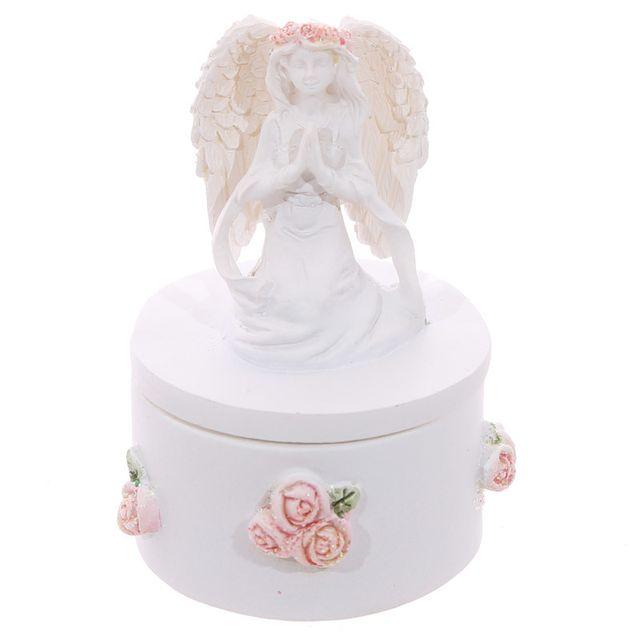 Sans Marque Boîte à bijoux Ange avec roses