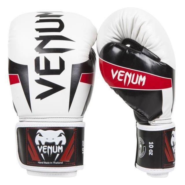 the best attitude f19fd 859d2 Venum - Gants De Boxe Venum Elite - Blanc Noir Et Rouge - taille   12oz