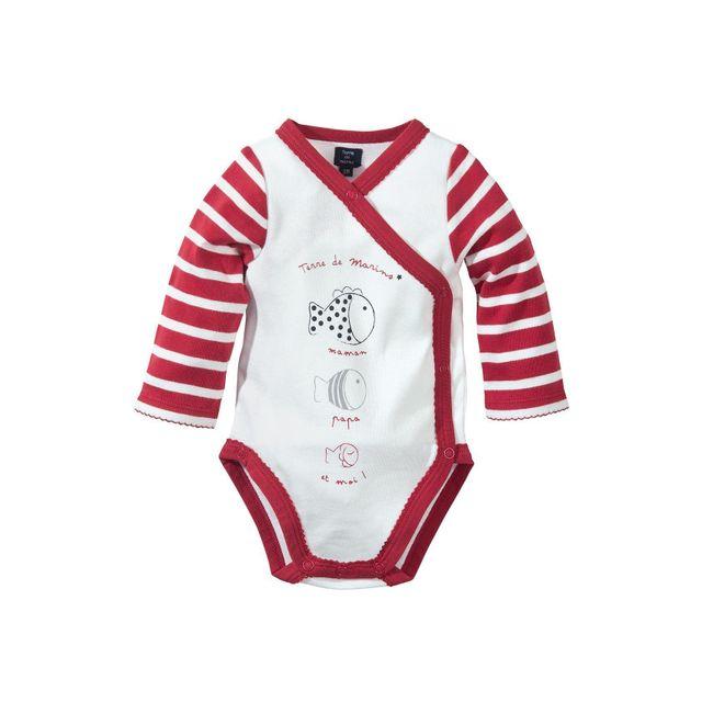 Terre De Marins - Body bébé fille naturel 9M - pas cher Achat ... e542b671866