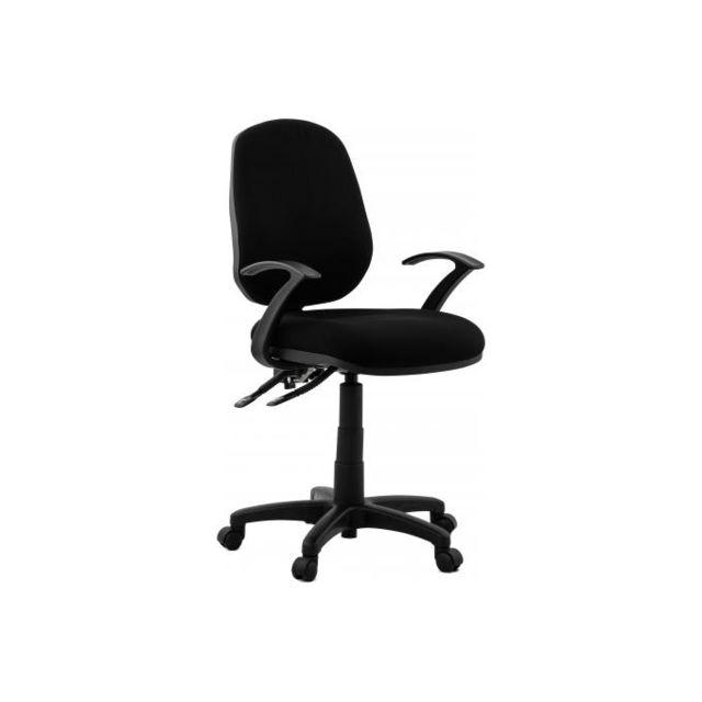 Kokoon Design Chaise de bureau tissu noir design Boop