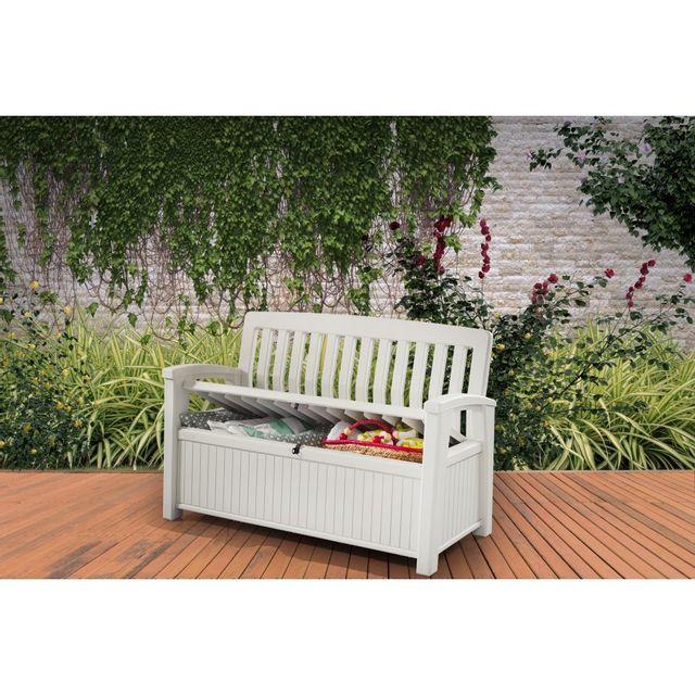 keter coffre resine patio bench pas cher achat vente coffre de jardin rueducommerce. Black Bedroom Furniture Sets. Home Design Ideas