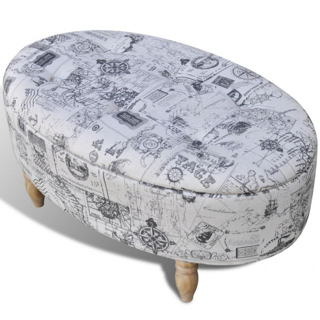 casasmart pouf repose pieds ovale pas cher achat vente poufs rueducommerce. Black Bedroom Furniture Sets. Home Design Ideas