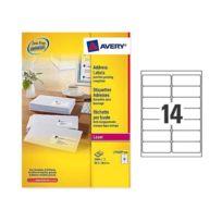 Avery - Planches étiquettes laser L99,1 x H38,1 mm soit 3500 étiq/boîte