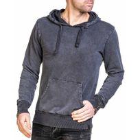 Uniplay - Sweat homme gris foncé à capuche et poche kangourou