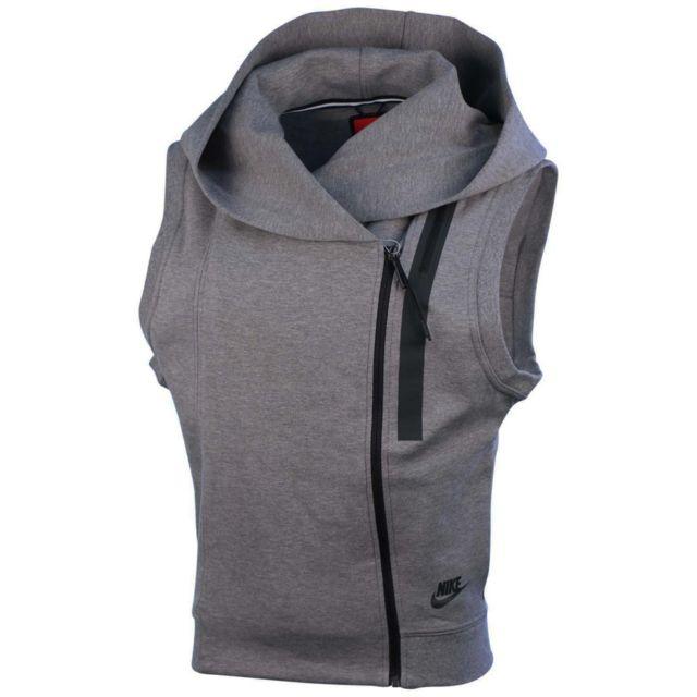 2b4c6fb8485f Nike - Sweat Tech Fleece - 689067-091 - pas cher Achat   Vente Gilet femme  - RueDuCommerce