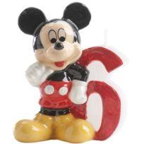 Dekora - Bougie Anniversaire Mickey - Chiffre 6