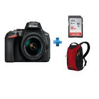 NIKON - appareil photo reflex - d5600 + objectif 18-55 + Carte SDHC Ultra 16 Go + Sac à bandoulière Vanguard pour reflex