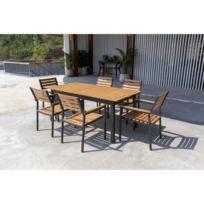 Table jardin eucalyptus - catalogue 2019 - [RueDuCommerce - Carrefour]