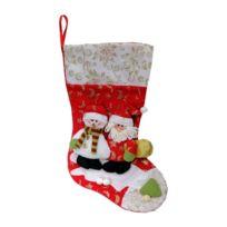 Somoplast - Grande botte de Noël de qualité en tissus à suspendre - Décoration de cheminée