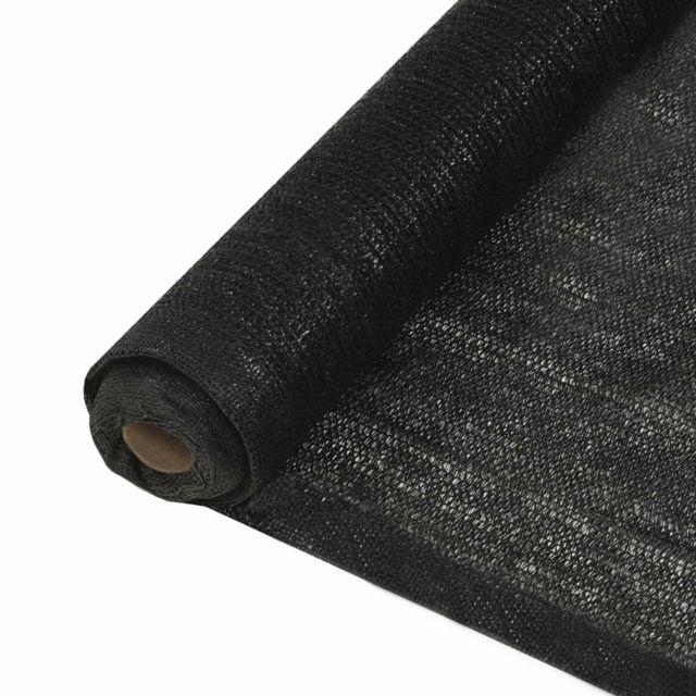 Vidaxl Filet brise-vue Pehd 1 x 50 m Noir