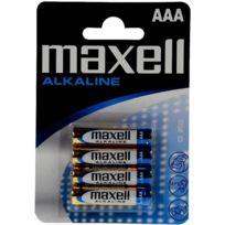 Maxell - piles lr03 / aaa alcaline 1,5v - blister de 4