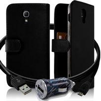 Karylax - Housse Coque Etui Portefeuille pour Samsung Galaxy Mega 6.3 Couleur Noir + Chargeur Auto