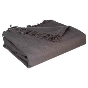 soldes paris prix jet de lit algodon 230x250cm gris nc pas cher achat vente couvertures. Black Bedroom Furniture Sets. Home Design Ideas