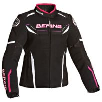 Bering - blouson moto été textile femme Lady Scream noir-fushia Btb266 T6