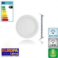 Europalamp - Spot led encastrable 15W extra plat rond Blanc Froid